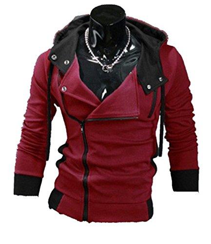 Cottory Mens Cosplay Full-Zip Hoodie Casual Slim Fit Top Coat Outwear Jacket