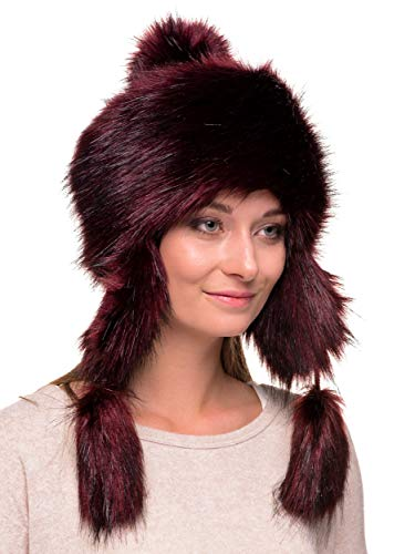 Jual Futrzane Faux Fox Fur Winter Trapper Hat Women Russian Style ... 12e8c007c352