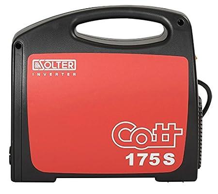 Solter 04241 - Equipo INVERTER de soldadura de electrodos revestidos Cott 175Se, color negro y rojo: Amazon.es: Bricolaje y herramientas
