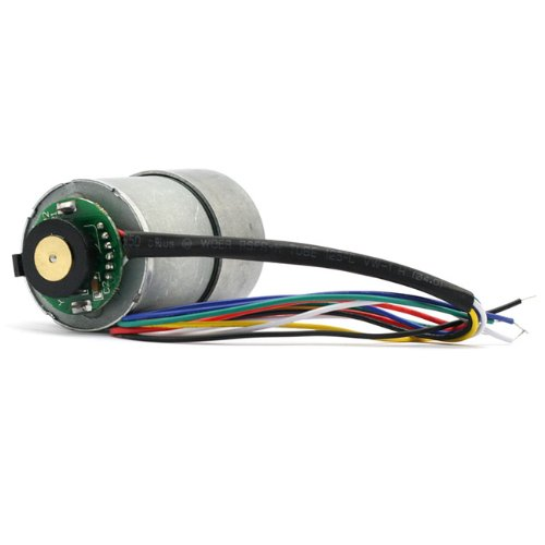 SainSmart 29:1 Metal Gearmotor 37Dx52L mm with 64 CPR Encoder 12V - Bracket Encoder