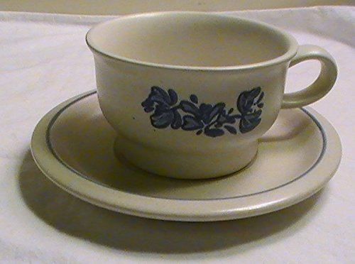 Pfaltzgraff Yorktowne Flat Bottom Cup and Saucer - Set of 4