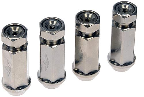 Dorman 712-245MXL4 Racing Style XL 1/2-20 Lug Nuts for Select Models, Hyper Silver (Pack of 4)