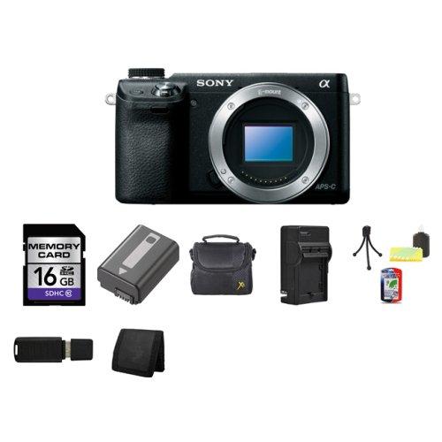 Sony Alpha NEX-6 Mirrorless Digital Camera Body Only (Black) 16GB Package 2