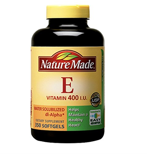 Nature Made 400 I.U. Water Solubilized Vitamin E Softgels, 350 ct. - 400 Iu Water