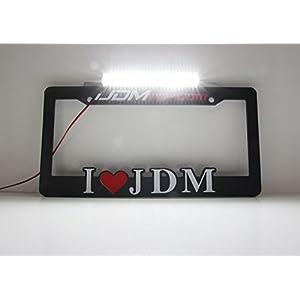 iJDMTOY (1) License Plate Mount 24-SMD High Power LED Back Up Light For Any Car SUV Truck VAN RV (12V DC), Xenon White