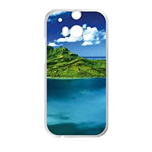 HTC One M8 Cell Phone Case Covers White Bora Bora With Nice Appearance vsez