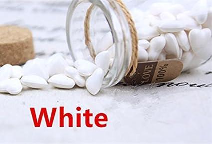mdlg 90pcs Blanco Forma de Corazón Cristal embotellada para sellado con cera Sello Vintage invitaciones de