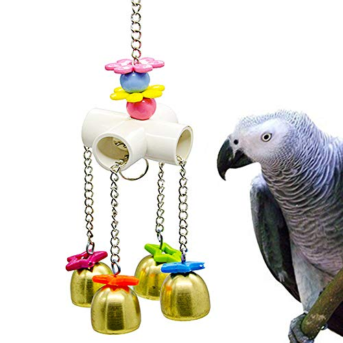 Worbee Bird Parrot Toys Pet Bird Cage Toy with Hanging Bell for Parakeet Cockatiel Conure Lovebirds Finch Canary