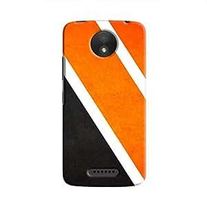 Cover it up Orange Tile Hard Case for Motorola Moto C Plus - Multi Color