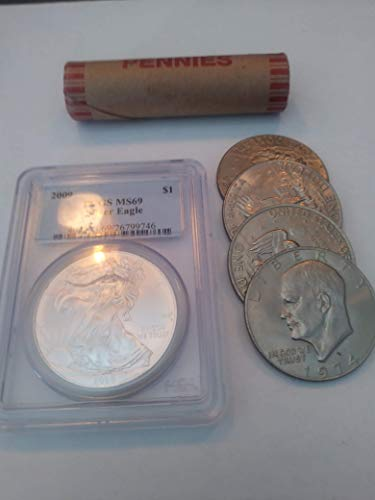Roll Dollar Eisenhower (2009 Various Mint Marks American Silver Eagle MS69)
