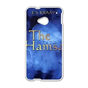 HTC One M7 cell phone cases White HAMSA fashion phone cases JY3492994