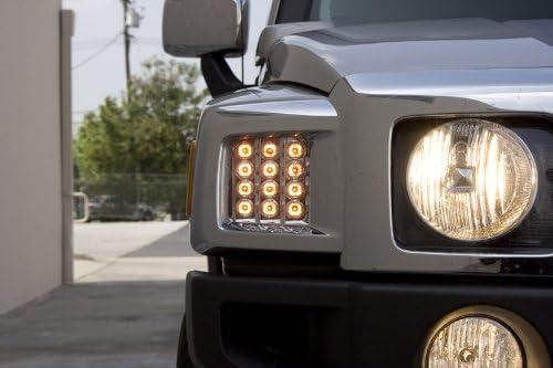 IPCW LEDC-346C Crystal Clear LED Front Park Signal Lamp Pair