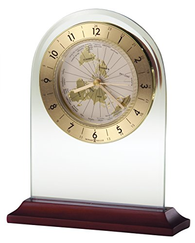 Howard Miller 645-603 World Time Arch Table Clock by World Time Tabletop Clocks