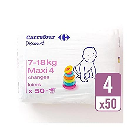 Carrefour Tamaño De Descuento Paquete De 4 Acarreo 50 Por Paquete - Paquete de 2: Amazon.es: Bebé