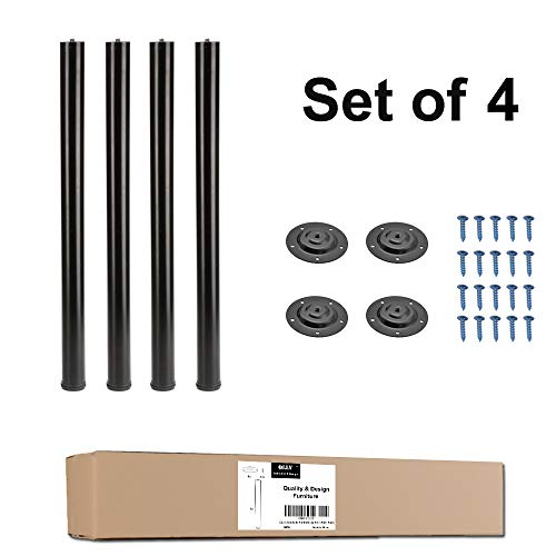 (QLLY 28 Inches Height Tall Metal Desk Legs, Adjustable(+1