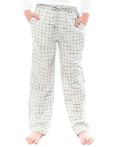 TINFL Kids Boys 100% Cotton Pajama Lounge Pants 3BP-02-White XL