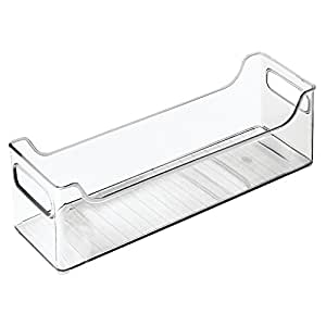 "InterDesign Refrigerator and Freezer Storage Organizer Bins for Kitchen, 5"" x 5"" x 14.5"", Clear"