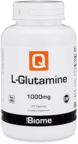 L Glutamine Amino Acid Supplement: Dietary Supplements for Immune Support, Digestive Health, Muscle Recovery & Mood Enhancement - Gluten Free, Non GMO, GMP Certified L-Glutamine 1000mg – 120 Capsules
