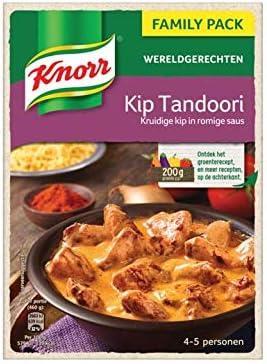 Mezcla de pollo y especias Tandori | Knorr | Platos del mundo Pollo Tandoori XXL. | Peso total 478 gramos