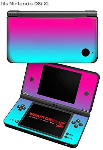 Nintendo DSi XL Skin Smooth Fades Neon Teal Hot Pink by WraptorSkinz (Image #1)