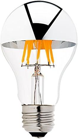 Century Light A19 8w Edison Style Led Dimmable Bulb Silver Tipped Led Filament Light Bulb 75 Watt Equivalent Warm White 2700k E26 Medium Base Lamp 4packs