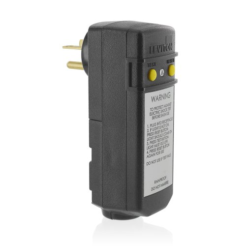, 120-Volt, Grounded, Compact Automatic Reset Right Angle GFCI, RoHS Compliant, Black ()