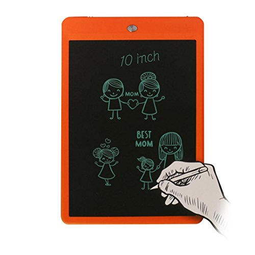 Kids Boogie Board Desk (Writing Pad,10-inch LCD Writer Paperless Memo Pad Tablet Writing Drawing Graphics Board By Dacawin (Orange))