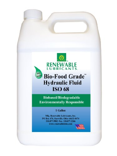 Renewable Lubricants Bio-Food Grade ISO 68 Hydraulic Fluid, 1 Gallon - Grade Food Oil Hydraulic