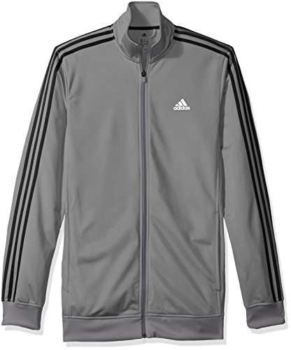 adidas Men's Athletics Essential Track Jacket (Extended Sizes), Grey/Print, Large/Tall