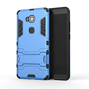 antichoc coque MHHQ 2 en 1 Nouveau Armour style robuste hybrides double couche Armure Defender TPU PC Hard coques Case Cover avec kickstand support pour Huawei Mate 8 -Gold Coque Huawei Mate 8