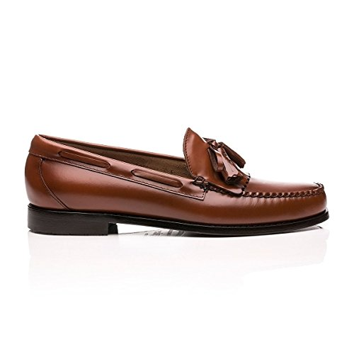 G.H. Bass Layton II Moc Kiltie Leather Loafer Brown 9