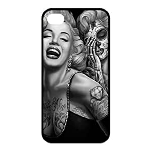 TOPPEST Treasure Design Marilyn Monroe Dia de Los Muertos Skull Tattoo Day of Dead APPLE IPHONE 4/4S Best Rubber Cover Case