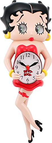 Betty Boop Animated Wall Clock, Outstanding Home Decor Gift for Valentine's Day