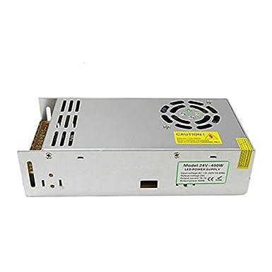 DC 24V Universal regulado fuente de alimentación conmutada LED 3d impresora CCTV Nueva UK, DC24V 16.5A 400W, 7
