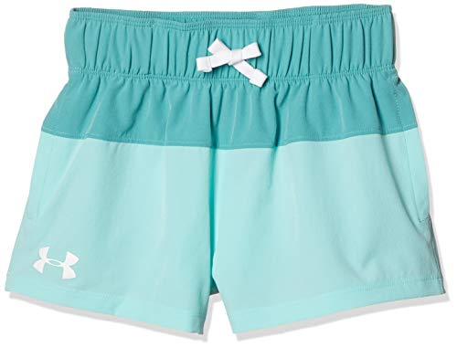 Azure Apparel - Under Armour Girls' Splash Board Shorty, Azure Teal//White, Youth Medium