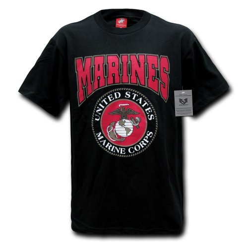 Rapiddominance Marines Classic Military Tee, Black, XX-Large