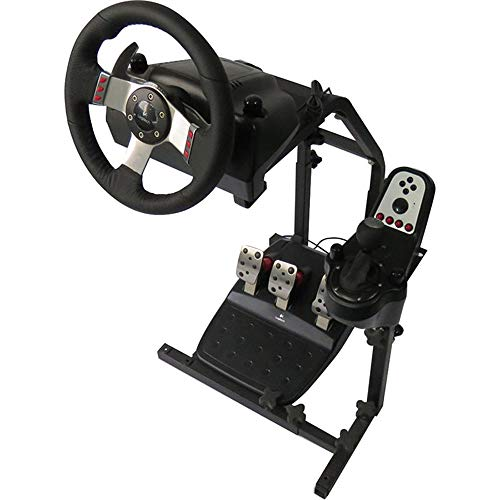 INTBUYING Racing Simulator Steering Wheel Stand Driving Gaming Steering Wheel Bracket Frame