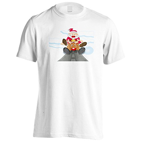 Neue Lustige Sankt Auf Rentier Herren T-Shirt l538m