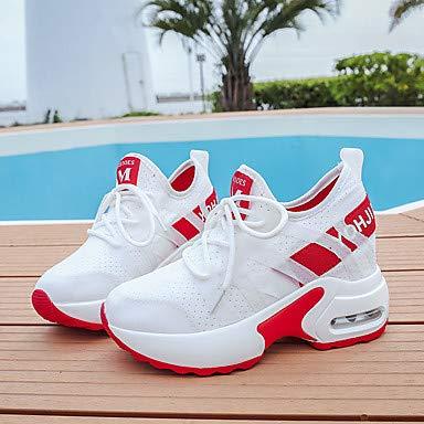 TTSHOES Per Donna Scarpe Retato/PU Retato/PU Scarpe (Poliuretano) Primavera Estate Comoda Sneakers Footing Polacche Punta Tonda Bianco/Rosso / Verde,Red,US7/EU37/UK5.5/CN37- 03e22a