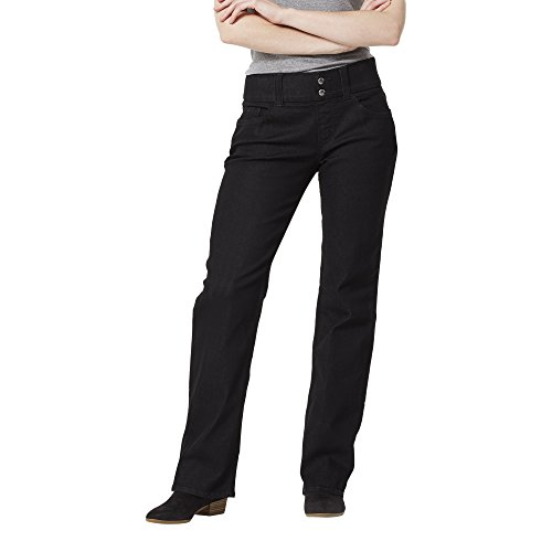 Riders by Lee Indigo Women's Pull On Waist Smoother Bootcut, Black 14