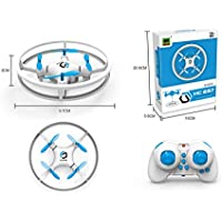 Super Durable Drone Space Trek UFO RC Quadcopter 2.4GHz 4 Axis Gyro RC Aircraft indoor Mini Helicopter for Children/Beginners (blue)