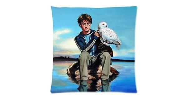 Harry Potter con Hedwig cojín funda Diseño personalizado con ...