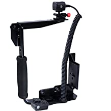 Multi-angle Foldable Metal Camera Holder Flash Bracket with Adjustable Hot Shoe Mount and Quick Release Plate + i-TTL Cord Cable for Nikon Speedlight Support Horizontal & Vertical Shooting Can be Fixed to Studio Light Stand Tripod Ballhead