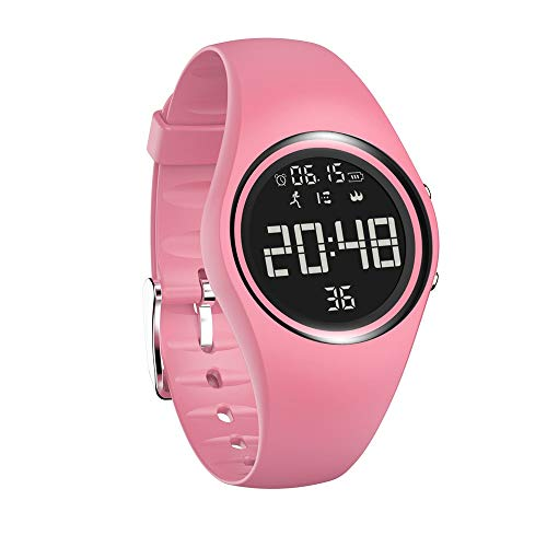 NXDA Color Touch IP68 Waterproof 3D pedometer Calorie monitoring Fitness Bracelet Smart Watch (pink)
