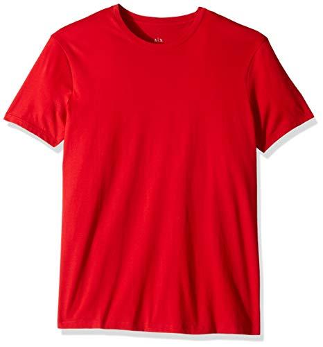 A|X Armani Exchange Men's Pima Cotton Jersey Short Sleeve Tshirt, Haute red, M ()