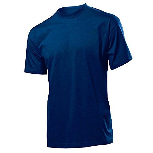 Stedman Classic Coton T-Shirt - Manches Courtes - Homme - Toutes les couleurs - P-XXXG XXL,Blue Midnight