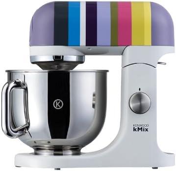 Kenwood kMix KMX80 - Robot de cocina, 500 W, capacidad de 5 l, 6 velocidades, 3 herramientas, color plateado con rayas multicolores: Amazon.es: Hogar