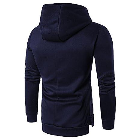 Sunnyuk Los Hombres con Cremallera Abrigo con Capucha Outwear algodón Caliente Sudaderas con Capucha Casual Tops con Bolsillo: Amazon.es: Ropa y accesorios