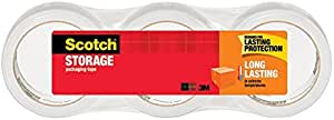 Scotch Long Lasting Storage Packaging Tape, 1.88 Inches x 54.6 Yards, 3 Rolls (3650-3)
