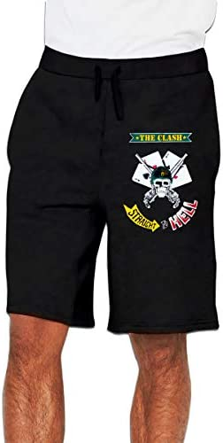 ザ・クラッシュ スカル トランプ ハーフパンツ メンズ ショートパンツ フィットネス トレーニングウェア 吸汗速乾